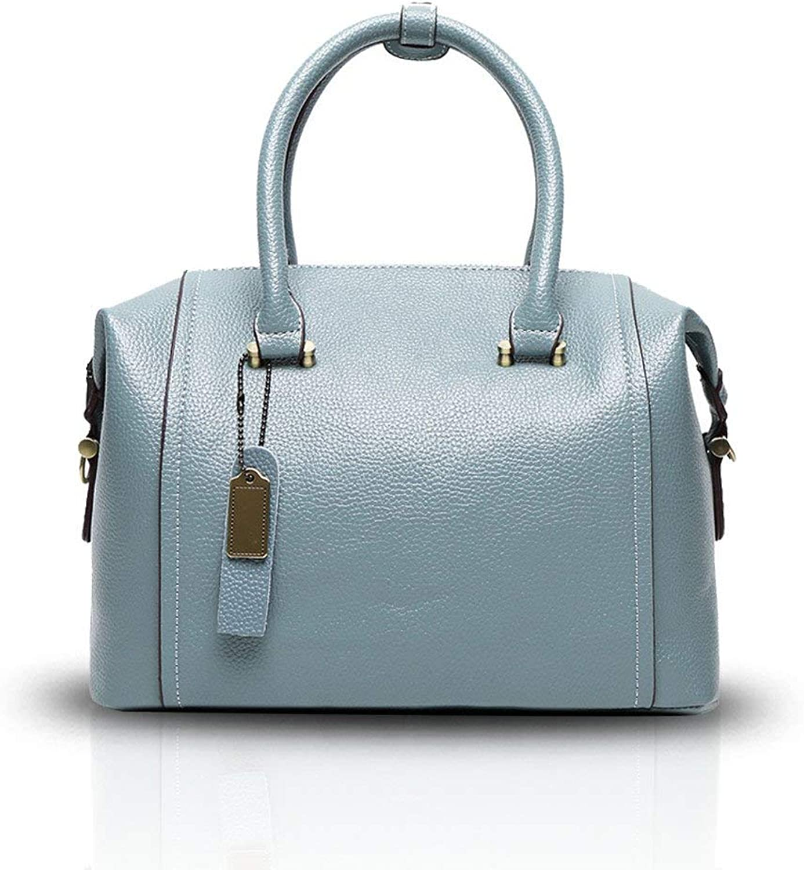 Neue Frauen Damen Handtaschen -Schulter Crossbody Beutel Kissen Tasche Rindsleder Blau B07QHTXT8G  Kaufen