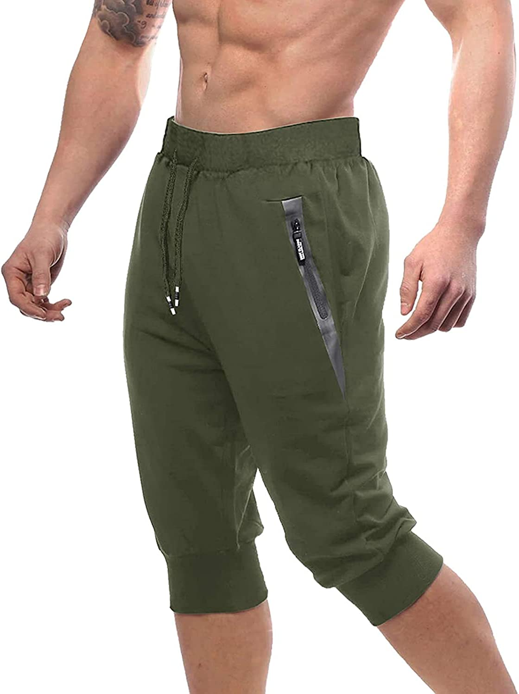 MAGNIVIT 3 4 Daily bargain sale Jogger Max 82% OFF Pants Workout Gym Training Athletic Sweatpan