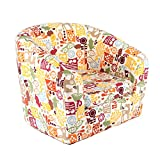 Emall Life Kid's Luxury Arm<span class='highlight'>chair</span> <span class='highlight'>Children</span>'s Tub <span class='highlight'>Chair</span> Cartoon Sofa Wooden Frame (Owl)