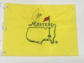 Sergio Garcia Signed Undated Masters Flag 2017 Champion Very Rare Coa - JSA Certified - Autographed Golf Pin Flags