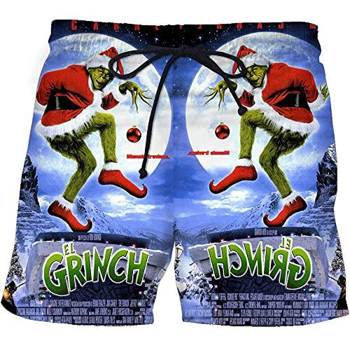 Aatensou The Grinch - Costume da bagno da uomo, corto, con fodera in rete (A1, S)
