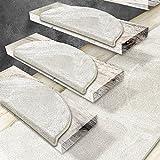 casa pura Stufenmatten Sundae | viele Varianten | Treppenteppich mit kuschlig weichem Flor | kombinierbar mit passenden Läufern | Creme - Rechteckig - 15 Stück Set - 3