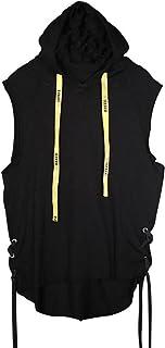 (ニカ)メンズ ベスト 春 夏 薄手 ベスト チョッキ 運動 カジュアル ゆったり メンズベスト フード付き