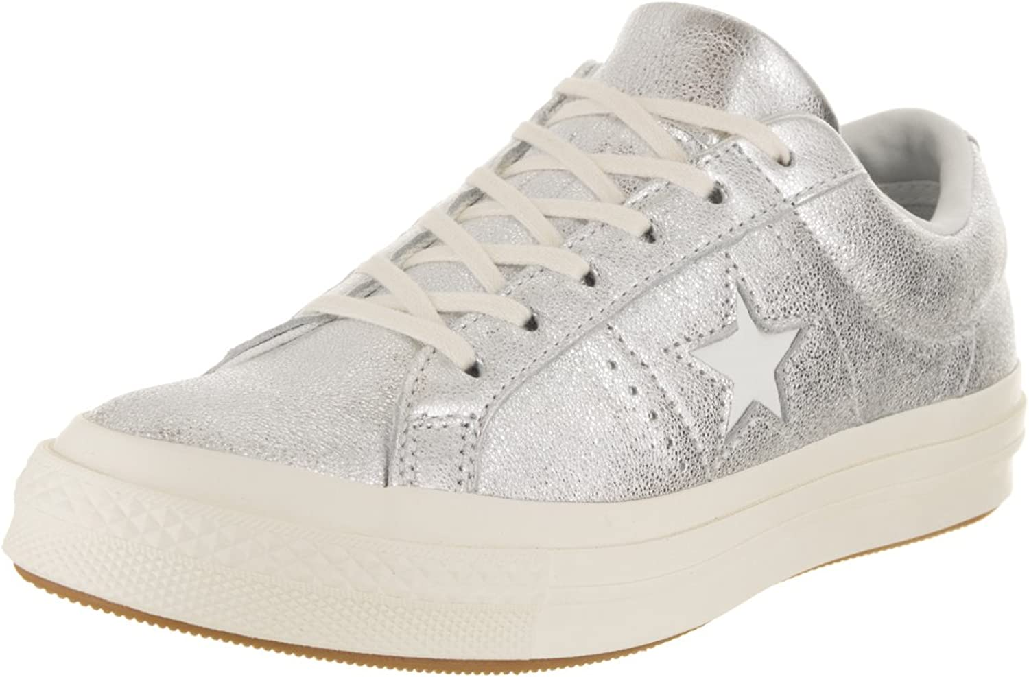 Converse Unisex Adults' Cons One Star Metallic Leather Ox Low-Top Sneakers