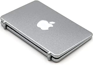 hobbysoul 1:12 Silver Apple Logo and Screen Mini Laptop Miniature Scene Model Scale Dollhouse Accessories