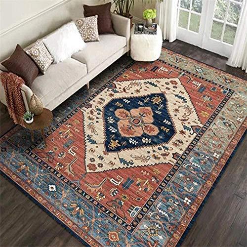Zhao Li vloerbedekking tapijten tapijt traditionele vintage groot gebied tapijten klassieke bloemen patroon oranje rood marineblauw voor woonkamer slaapkamer kamer tapijten
