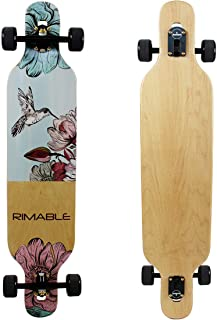 RIMABLE Canadian Maple Freeride Concave Deck Longboard (Drop-Through,42Inch)