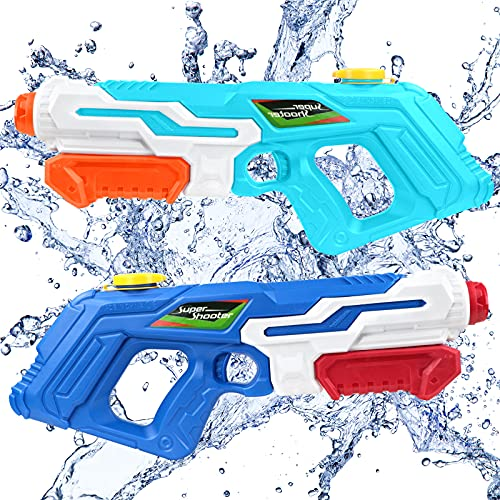 2 Pack Water Guns for Kids, Squirt Guns Kids Toys 970CC Water Blaster for Adults Boys Girls Summer Swimming Pool...