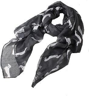 ctshow Dachshund Print Voile Print Scarf Fashionable Women Scarves shawl