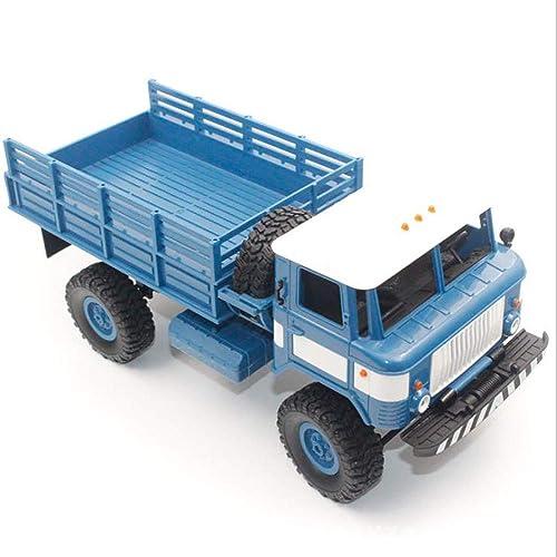 LIJUN Milit icher LKW Modell 1 16 proportionale Kinderspielzeugfürzeug-Fernbedienung Steuerung Vier-Treise-SUV,Blau