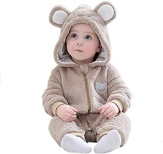 Mum&nny ハロウィン ベビー服 クマ 着ぐるみ ロンパース カバーオール フード付き防寒着 もこもこ 男女共用 90/73cm
