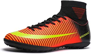 CR Soccer Boots Indoor - TF Turf Cleats Boys - High Tops Ankle Boots Women Turf - Messi Outdoor...
