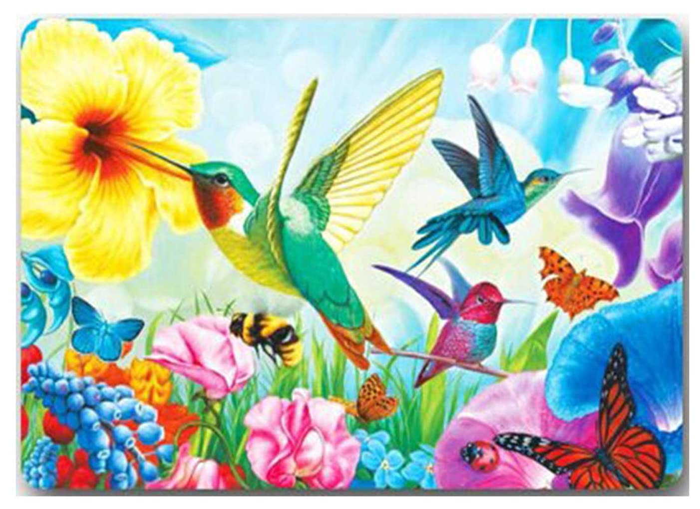 Twuky 5D Diamond Painting Kits Full Drill Diamond Embroidery-Home Decoration Process-Hummingbird(30X40CM/12X16inch)