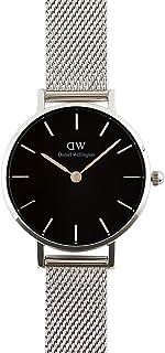Daniel Wellington DW00600218 Mesh Stainless Steel Black-Dial Round Analog Unisex Watch - Silver