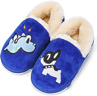 UIESUN Newest Unisex Cute Toddler Kids Soft Slippers Shoes for Boys Girls Winter Bedroom Indoor House