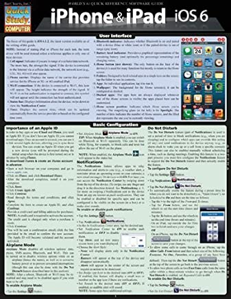 Iphone & Ipad-Ios 6 (Quick Study Computer) Lam Crds edition by BarCharts, Inc. (2012) Paperback