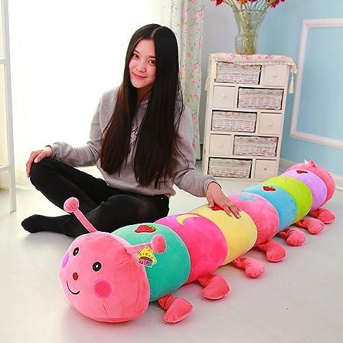 GJC Bunte Caterpillar Pillow Plush Spielzeug Doll Doll Sofa Polster Presse Doll Geburtstags-Geschenk-K g Größe,Rosa,16cm