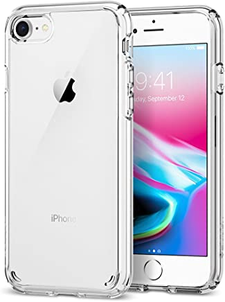 spigen Funda iPhone 7/8 [Ultra Hybrid 2] Tecnología de amortiguación de Aire y protección híbrida contra caídas para iPhone 7 (2016) / iPhone 8 (2017) - Transparente