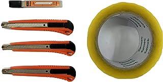 مجموعة سكين قص 9 مم من لوكوس للمكتب، لوازم المدرسية، المنزل