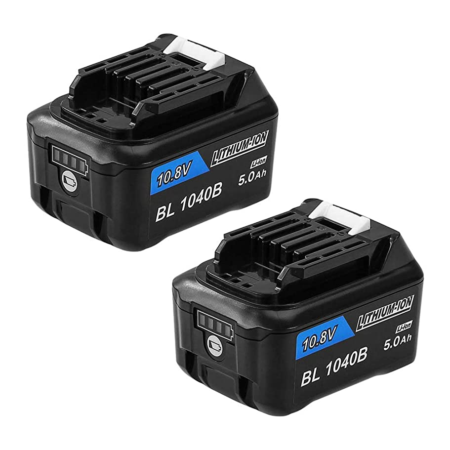 Boetpcr BL1040B マキタ10.8vバッテリー マキタ BL1040B リチウムイオン電池 10.8V 4000mAh 2個セット BL1040 BL1040B BL1015 BL1030B BL1050B BL1041B-2 BL1021B BL1016 BL1060B など対応互換バッテリー マキタ充電式クリーナー 掃除機CL107FDSHWLED適用 残量表示 一年保証付き!