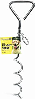 Roscoe's Pet Products Steel Spiral Tie Out Stake for Dogs. 4 (9mm, 18 inch)