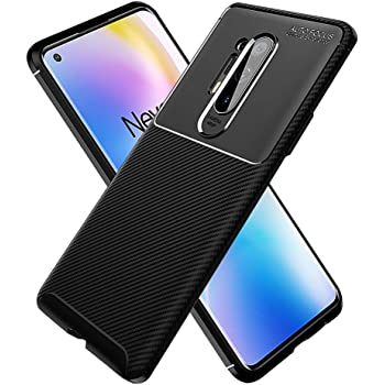 PULEN for Oneplus 8 Pro Case,1+8 pro case (New Verison),Shock Resistant Brushed Flexible Soft TPU Bumper Cover Phone Protective for Oneplus 8 Pro (Black)