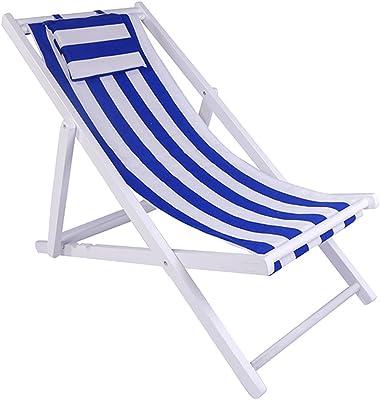 WGXX Silla Plegable Silla De Playa Plegable Tumbona De ...