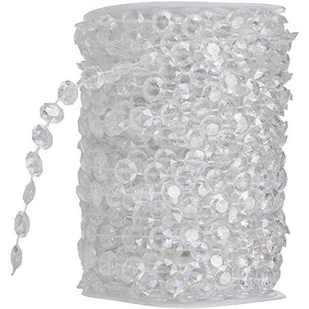 f/ür Strand h/ängende Vorhang Tropfen Ausgangs Dekoration Colored Ewparts 30M Kristall Girlande Diamant Acrylkorne Korn Schnur chandlier Korne