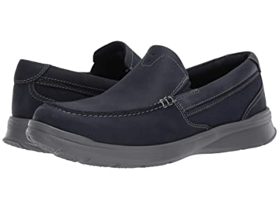 Clarks Cotrell Easy (Navy Combi Leather) Men