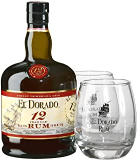 El Dorado 12 Years Old Finest Demerara Rum 40% Vol. 0,7 l  GB mit 2 Gläsern