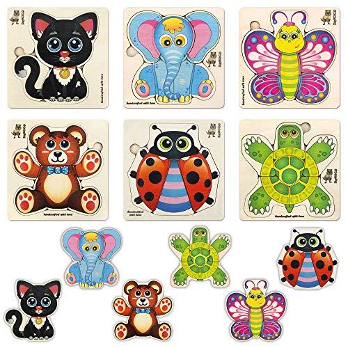 Quokka Puzzle in Legno Giochi Bambini 1 2 3 - Regalo Giocattoli Bambini 2 Anni - 6 Giochi Montessori 1 Anno con Animali