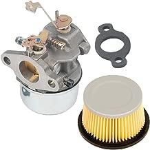 HIFROM Replace Carburetor Carb kit for Tecumseh 631067 631067A 632076 631828 H50 H60 HH60 with Air Filter 30727 30604 John Deer AM30900 Cub Cadet 488619 488619-R1 Lesco 050113