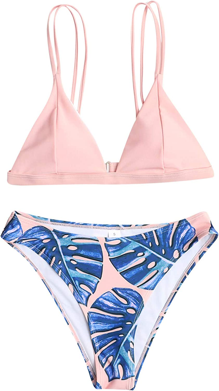 Swimsuits for Women Bathing Suits for Women Two Piece Swimsuit Halter Bikini Set High Waisted Beach Swimwear