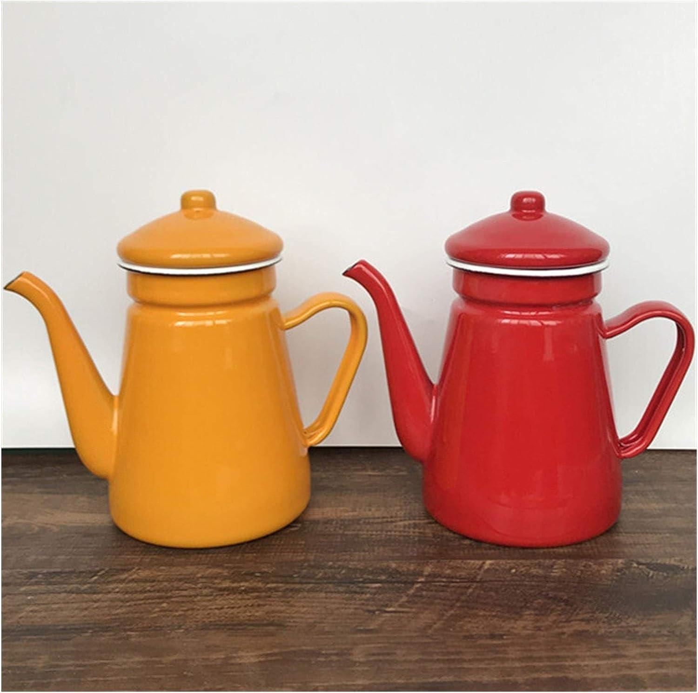 Bouilloire Émail bouilloire gaz Teapot waterkoker Retro Vintage Home Decor (Color : Blue 1.5L) Pink 0.9l