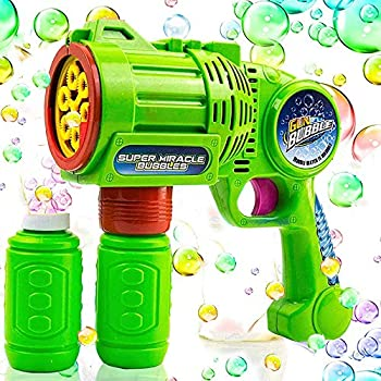 Toysery Bubble Gun Blower for Kids Non-Toxic Leak-Resistant Automatic Bubble in Minutes Easy Refill Bubble Blaster Toys for Toddlers Boys Girls Party Favors Easter Birthday Gift and Outdoor
