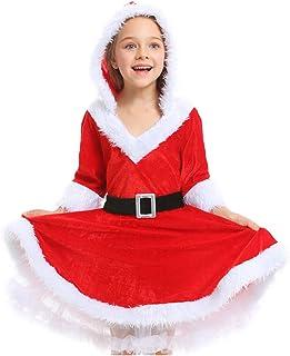 Tsyllyp Women Dresses Mrs. Claus Santa Costume Christmas V-Neck Tutu Dress