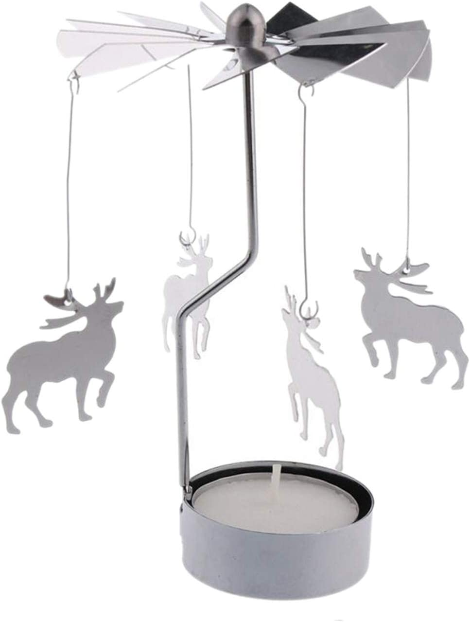 GemCave Rotary Candle Holder Save money Deer Spinning Tealigh Wholesale Silver DIY 5