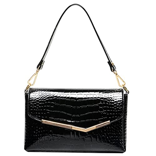 a8108aed35 Patent Leather Clutch Handbag Alligator Pattern Shoulder Bag Evening Bag  for Women
