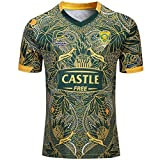 Beautyup Equipo deportivo sudafricano, Springboks, 7s, camiseta de rugby, nuevo bordado tejido, ropa deportiva con botín (Color : Vert, Size : M)