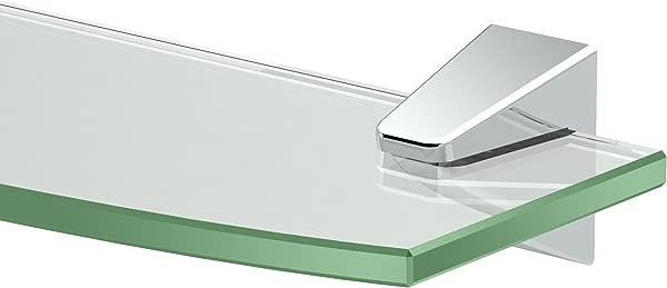 Gatco 5176 Quantra Bathroom 8mm Tempered Glass Shelf 20 13 Chrome