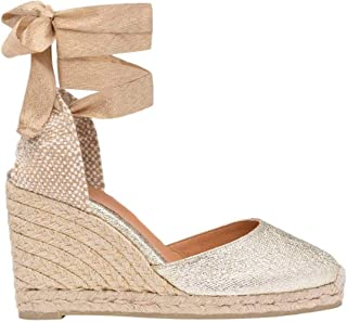 Castaner Womens Carina Metallized Fabric Wedge Espadrilles