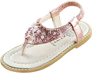 New in Respctful✿Baby Sandals for Girls Mary Jane Flats Soft Sole Infant Floral Sparkly Princess Shoes