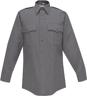 Flying Cross 46W6691 Men's Long Sleeve Uniform Shirt, Charcoal, 19-40