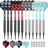 CyeeLife Soft Tip Darts Set 18 Grams with PVC Dart shafts(4...