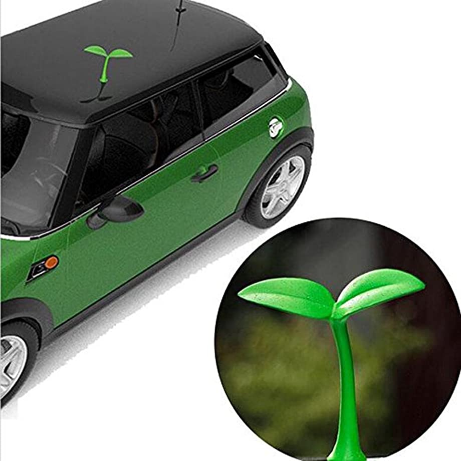 1PCS Universal Lovely Creative 3D Car roof Grass Bean Sprouts Car Stickers Car roof 3D Sapling Car exterior Stickers (Bean Sprouts)