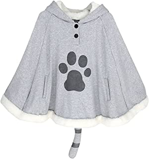 YOMORIO Hooded Cape Game Cosplay Cloak Cat Ear Cotton Women Girls Outerwear Poncho