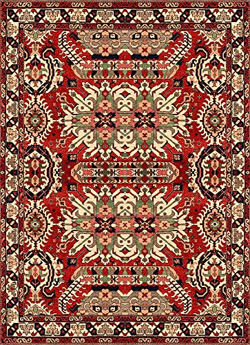 Tapete Persa Red DNA Home Antiderrapante 100x140 cm