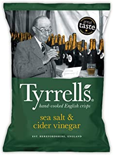 Tyrrell's Sea Salt and Cider Vinegar Potato Chips, 150g