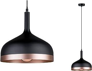 Paulmann 79629 Neordic Embla Luminaire suspendu, max. 1x20W, E27, Noir/Cuivre mat, 230V, Métal