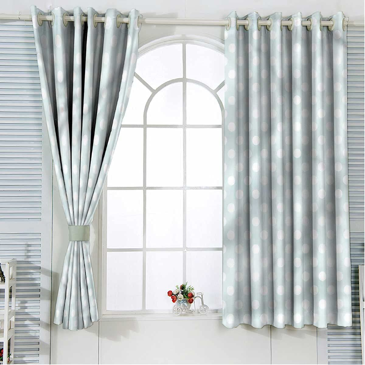 Pale Outlet ☆ Free Shipping Blue Blackout Curtain Panels Selling 2 84 Retro Inch Sty Length Set